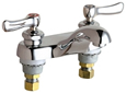 Chicago Faucets - 802-ABCP 4-inch Center Lavatory Faucet with Integral Spout and E12 - 2.2 GPM Pressure Compensating Softflo® Aerator.