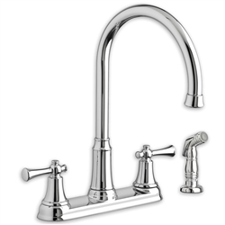 American Standard 4285.551 - Portsmouth 2-Handle High-Arc Kitchen Faucet with Side Spray