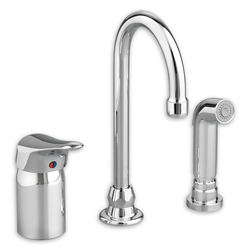 American Standard 6114.300 - Monterrey Single Control Gooseneck Kitchen Faucet with Remote Valve and Side Spray