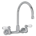 American Standard 7295.252 - Heritage 2-Handle Wall-Mount Kitchen Faucet with Soap Dish