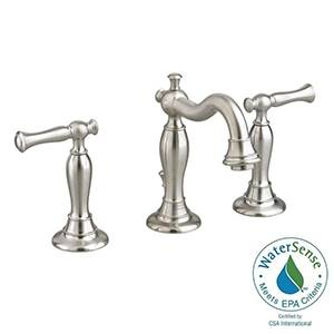 "American Standard 7440.851.295 Quentin 2-Handle 8"" Widespread Bathroom Faucet (Brushed Nickel)"