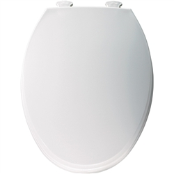 Church 130EC - Elongated, Closed Front with Cover, Easy Clean Plastic Toilet Seat