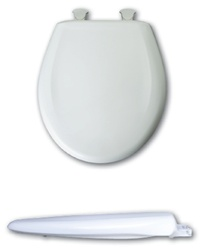 Bemis 200SLOWT Round, Closed Front with Cover and available in your choice of color. The 200SLOWT is a Plastic Toilet Seat with DuraGuard® an antimicrobial agent.