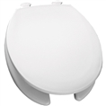 Church 35EC - Round, Open Front with Cover, Easy Clean Plastic Toilet Seat