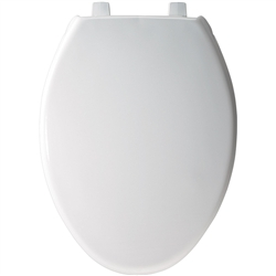 Church 383SS - Elongated, Closed Front with Cover SS Plastic Toilet Seat