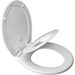 Bemis 583SLOW - Round NextStep® Built-in Potty Seat™, Whisper•Close® with Easy•Clean & Change™ Hinges and STA-TITE®