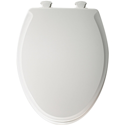Church 685E2 - Elongated, Closed Front with Cover E2 Molded Wood Toilet Seat