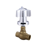 Central Brass 0607-C3/4 - Cast Brass Tile Stop Volume Control with 3/4-inch direct sweat inlets.