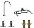 Chicago Faucets - Clawfoot Tub Fitting Combo