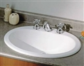 Cheviot 1170W-8 - BELVILLE DROP-IN BASIN-WHITE-8-inch