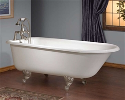 Cheviot 2093 - TRADITIONAL ROLL TOP Cast Iron Bath with Rim Mount Faucet Holes