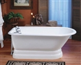 Cheviot 2118W - TRADITIONAL TUB-NO FLAT AREA-PAINTED WHITE-PEDESTAL BASE