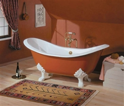 Cheviot 2150 - Regency Cast Iron Bath with Lion Feet