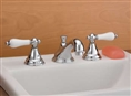 Cheviot 5220PN-LEV - WIDESPREAD LAVATORY FAUCET-LEVERS-POLISHED NICKEL