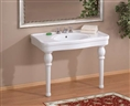 Cheviot 727W-8 - GRAND  ASTORIA CONSOLE WITH LEGS-42X23-WHITE-8-inch