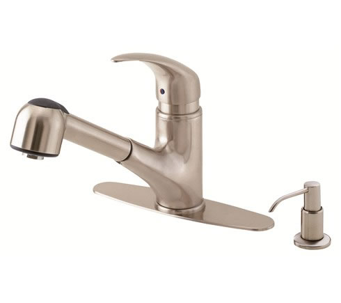 Danze D454512SS Melrose 1H Pull-Out Kitchen Faucet w/ Soap Dispenser 2.2gpm  Stainless Steel