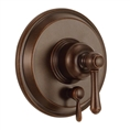 Danze D500457BRT - Opulence Single Handle Pressure Balance Mixing Valve Only with Diverter TRIM Kit Lever Handle - Tumbled Bronze