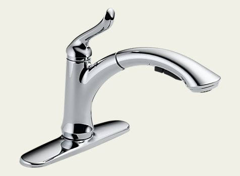 Linden single-handle pull-out spray kitchen faucet