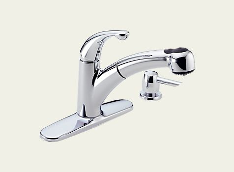 Delta Palo Single Handle Pull Out Kitchen Faucet With