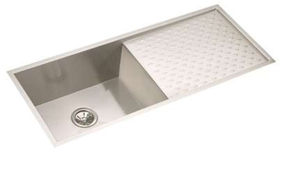 Gentil Elkay   EFU411510DB   Avado Undermount Sink, 1 Bowl With Drain Board,  Stainless Steel