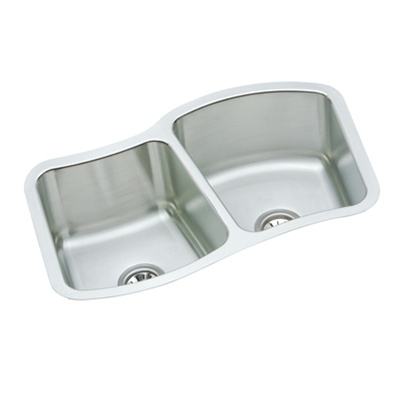 Elkay   MYSTIC332110L   The Mystic® Double Bowl Undermount Sink   Stainless  Steel