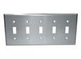 Component Hardware - R70-0725-Q - S/S FIVE TOGGLE PLATE SANIGUARD COATED