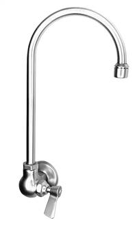Fisher - 2054 - Single Hole Wall Mounted Faucet - 6-inch Rigid Gooseneck Spout