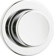 Geberit 115.114.21.1 - Round Single Flush Button Actuator Plate, Molded Plastic - Polished Chrome
