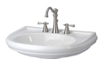Gerber - BRIANNE PED LAVATORY FAUCET TOP 8-inch CC WHITE
