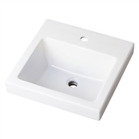 "Gerber 0013822 Wicker Park Countertop Lavatory 21""x18"" Rectangle Single Hole White"