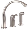 Gerber 40-163-SS Allerton 1H Hi-Arc Kitchen Faucet w/ Spray 2.2gpm Stainless Steel