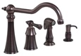 Gerber 40-182-RB Brianne Single Handle Kitchen Faucet, Oil Rubbed Bronze Finish