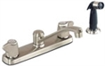 Gerber - MAXWELL 2 HANDLE KITCHEN FAUCET METAL BLADE HANDLES W/SPRAY CER - STAINLESS STEEL