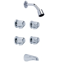Gerber 46-430-83 Classics Four Handle Tub & Shower Fitting 2.0gpm