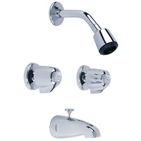 Gerber 46-520-83 Classics 6 Inch Centers Two Handle Tub & Shower Fitting 1.75gpm Chrome
