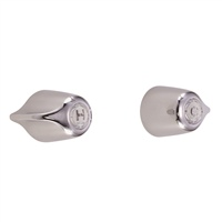Gerber 47-761-83-G Pair Straight Pattern Shower Valves with Compression stems, Sweat Connections, Sliding Sleeve Escutcheons and Metal Handles