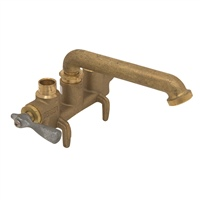 Gerber 49-536 Gerber Classics Two handle Clamp On Laundry Faucet W/ Direct Sweat Connections -No Threads On Spout 2.2gpm (Rough Brass)