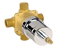 Gerber GH-301 Ceramic Disc Cartridge Pressure Balance Valve Ips/Sweat Less Stops (Rough Brass)