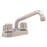 Gerber 07-49-244 Classics Two Metal Fluted Handle Laundry Faucet with 6 Inch Swing Spout Chrome
