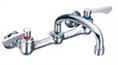 Gerber C4-44-693 Commercial Wall Mount Kitchen Faucet, 2 Wrist Blade