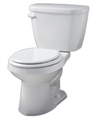 Gerber HE-21-500 - Viper™ 1.28 gpf (4.8 Lpf) High Efficiency Round Front Two Piece Toilet, 10-inch Rough-In