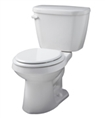Gerber HE-21-504 - Viper™ 1.28 gpf (4.8 Lpf) Round Front High Efficiency Two Piece Toilet, 14-inch Rough-In