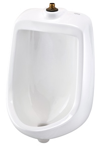 Gerber HE-27-730 North Point 0.5gpf Urinal Washout Top Spud Half Stall White