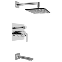 Graff G-7290-LM40S-SN - Immersion Satin Nickel Full Pressure Balancing Tub and Shower System