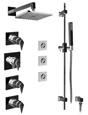 Graff - GC1.1-LM23S-BN - Stealth Contemporary Thermostatic Set with Handshower and Flush Mount Body Sprays