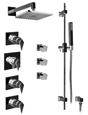 Graff - GC1.2-LM23S-BN - Stealth Contemporary Thermostatic Set with Handshower and Body Sprays