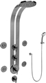 Graff GD1.130A - Round Thermostatic Ski Shower Set w/Body Sprays & Handshower (Rough & Trim)