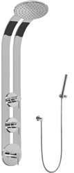 Graff GD2.020A - Round Thermostatic Ski Shower Set w/Handshower (Rough & Trim)