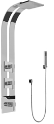 Graff GE2.020A - Square Thermostatic Ski Shower Set w/Handshower (Rough & Trim)