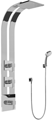 Graff GE2.030A - Square Thermostatic Ski Shower Set w/Handshower (Rough & Trim)